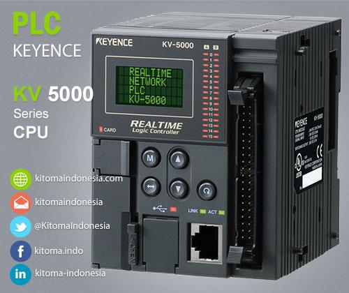 KV-5000 CPU 24-point I/O PLC Keyence